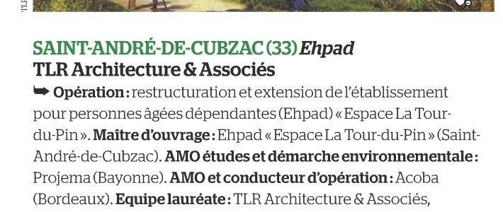 e moniteur, restructuration, ehpad, gironde, acoba