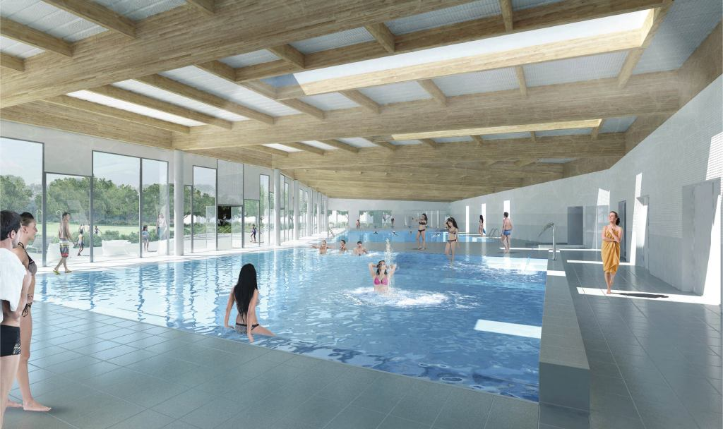 Acoba Assistance maîtrise d'ouvrage : Les travaux de reconstruction de la piscine à Ambarès-et-Lagrave ont débuté - 12
