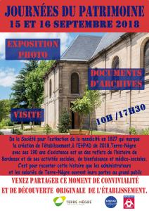 Acoba Assistance maîtrise d'ouvrage : l'EHPAD Terre-Nègre à Bordeaux vous accueille pour les Journées Européennes du Patrimoine 2018