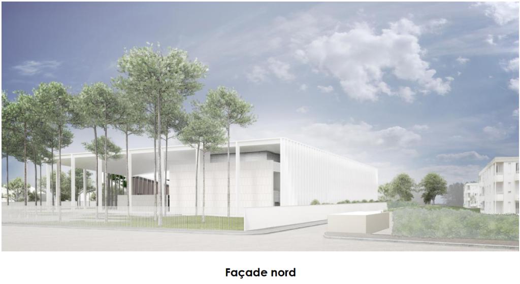Acoba Assistance maîtrise d'ouvrage : Construction neuve d'un palais de justice à Mont-de-Marsan - Façade Nord