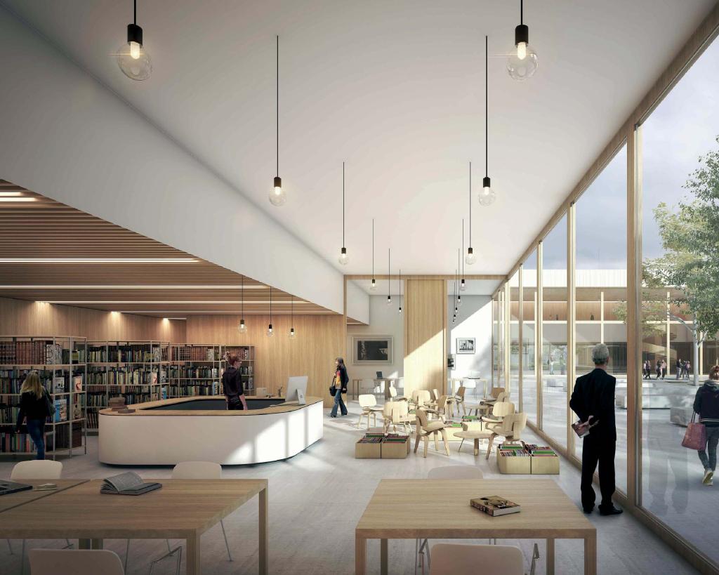 Acoba Assistance maîtrise d'ouvrage : Construction d'un collège à Vouneuil-sous-Biard (Poitiers) - Perspective CDI