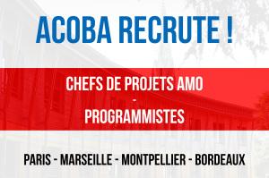 ACOBA Assistance maîtrise d'ouvrage : Recrutement de programmistes et chefs de projets
