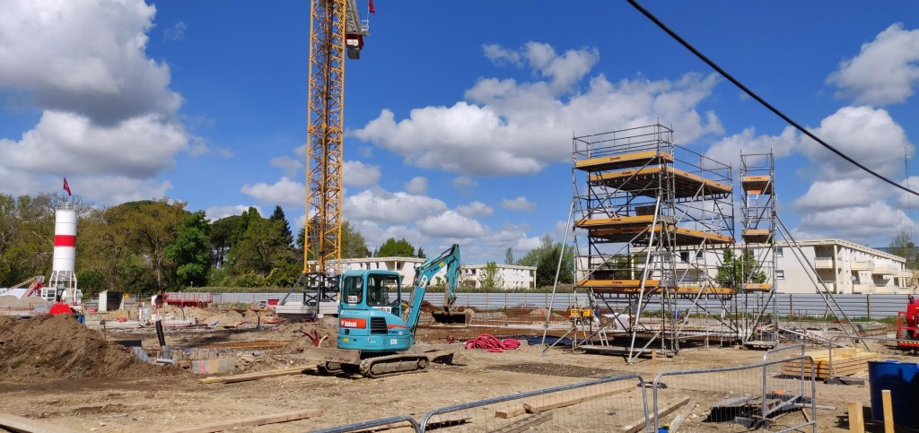 Acoba Assistance maîtrise d'ouvrage : Les élévations du nouveau Palais de justice de Mont-de-Marsan débutent