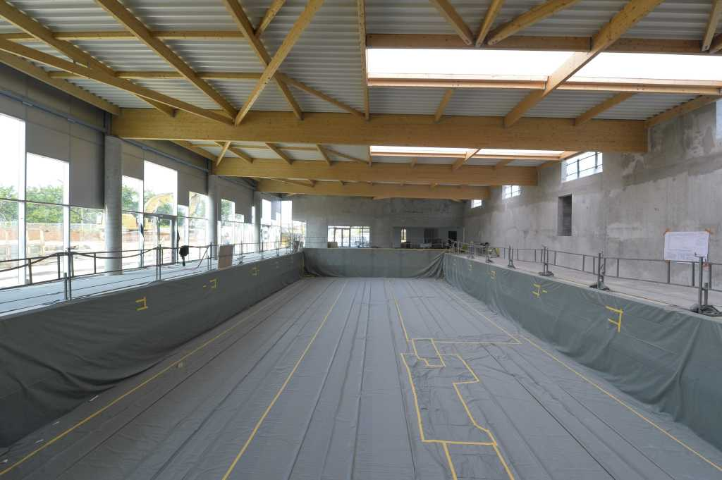 Acoba Assistance maîtrise d'ouvrage : Les travaux de la piscine d'Ambarès-et-Lagrave avancent - 2