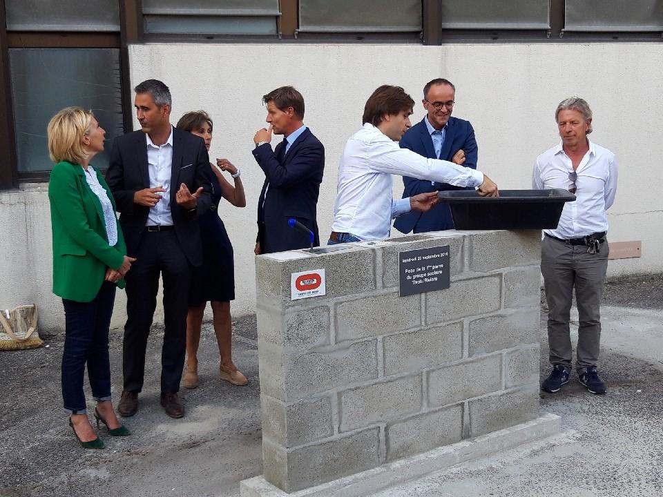 Acoba Assistance maîtrise d'ouvrage : Première pierre du futur Groupe Scolaire Tivoli Rivière Bordeaux - 2