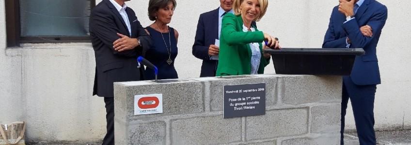 Acoba Assistance maîtrise d'ouvrage : Première pierre du futur Groupe Scolaire Tivoli Rivière Bordeaux