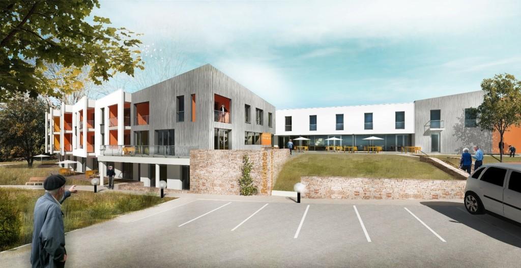 Acoba Assistance maîtrise d'ouvrage : Restructuration extension de l'EHPAD Résidence de L'Equaiziere (79 lits) et création d'une résidence autonomie - Extérieur