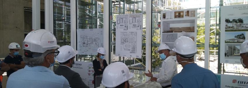 Acoba Assistance Maîtrise d'Ouvrage : visite officielle sur le chantier du Palais de justice de Mont-de-Marsan