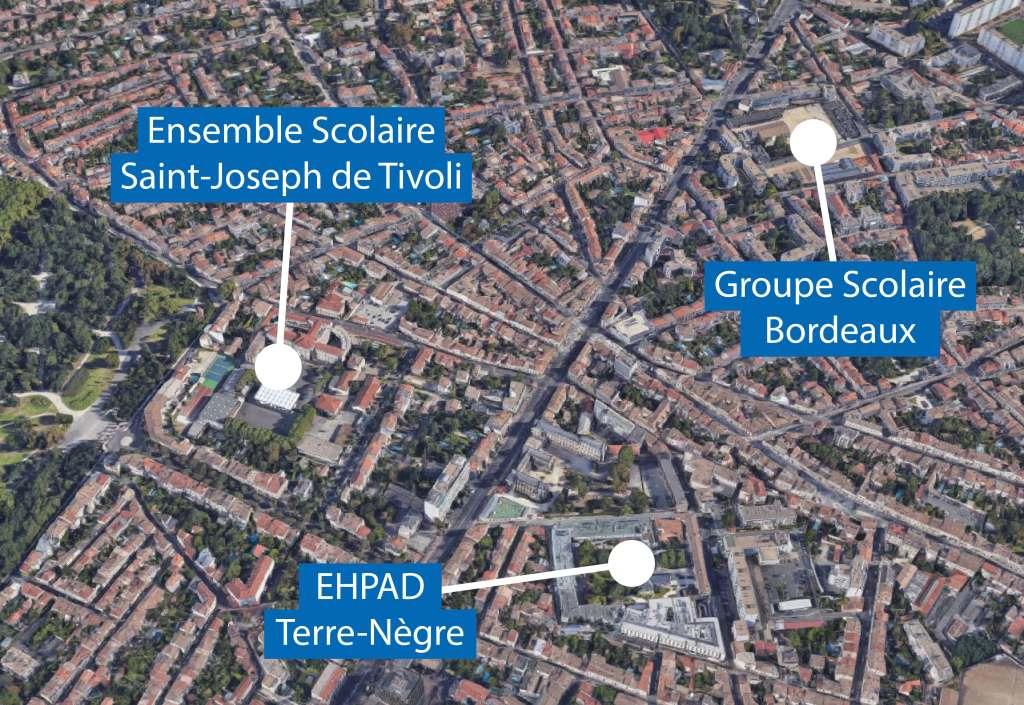 Acoba Assistance maîtrise d'ouvrage : Projet enseignement Ensemble scolaire Saint-Joseph de Tivoli, Bordeaux - Plan