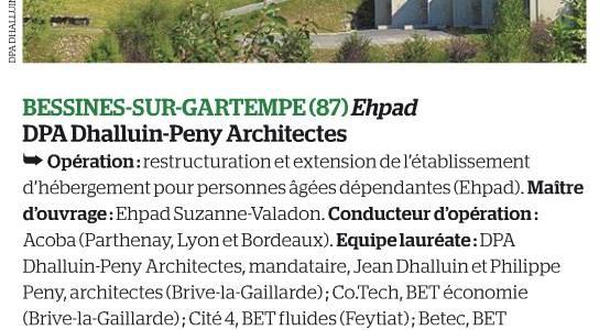 EHPAD Bessines-sur-Gartempe AMO Le Moniteur