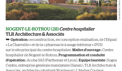 acoba-assistance-maitrise-douvrage-article-moniteur-nogent-le-rotrou-centre-hospitalier-tlr-architecture-et-associes