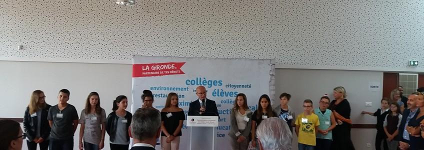 Inauguration de la restructuration et de l'extension du collège Claude Massé à Ambarès