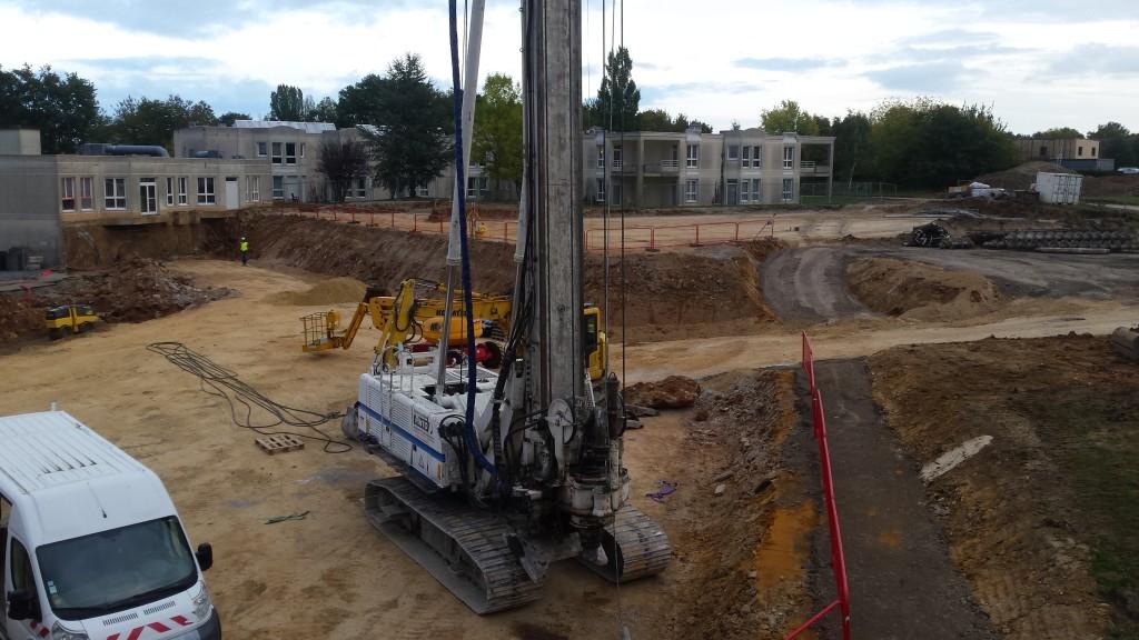 Acoba : Pose de la première pierre et début terrassement du chantier de Nogent-Le -Rotrou - 2
