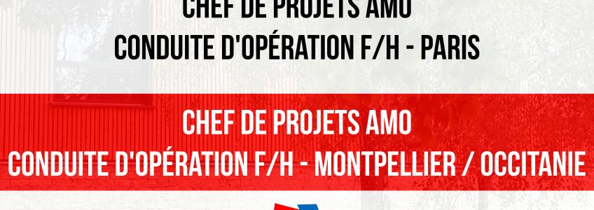 ACOBA Assistance maîtrise d'ouvrage : recrutements à Paris et Montpellier / Occitanie