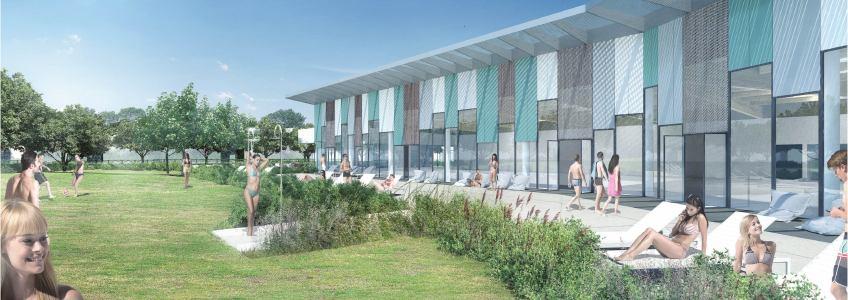 Acoba Assistance maîtrise d'ouvrage : Les travaux de reconstruction de la piscine à Ambarès-et-Lagrave ont débuté