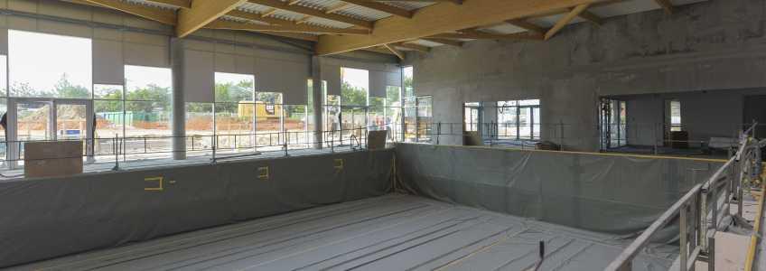 Acoba Assistance maîtrise d'ouvrage : Les travaux de la piscine d'Ambarès-et-Lagrave avancent