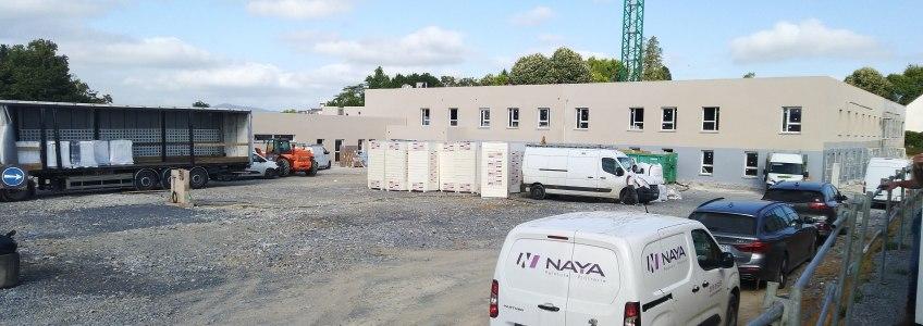 Acoba Assistance maîtrise d'ouvrage : avancement des travaux pour le chantier de l'EHPAD à Oloron-Sainte-Marie - 2