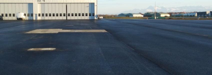 Acoba Assistance maîtrise d'ouvrage : Les travaux de la Plateforme d'hélicoptères de combat NH 90 se poursuivent à Pau-Uzein (64)