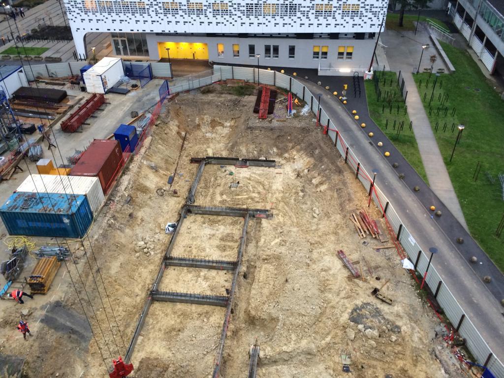 Acoba Assistance maîtrise d'ouvrage : Recherche – Construction d'un nouveau bâtiment de recherche pour l'Université de Bordeaux. Fin de gros œuvre - 2