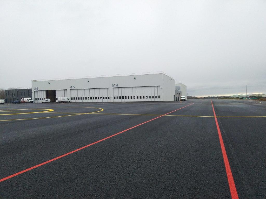Acoba Assistance maîtrise d'ouvrage : Plateforme d'hélicoptères de combat NH 90 à Pau-Uzein (64), avancée des travaux - 1