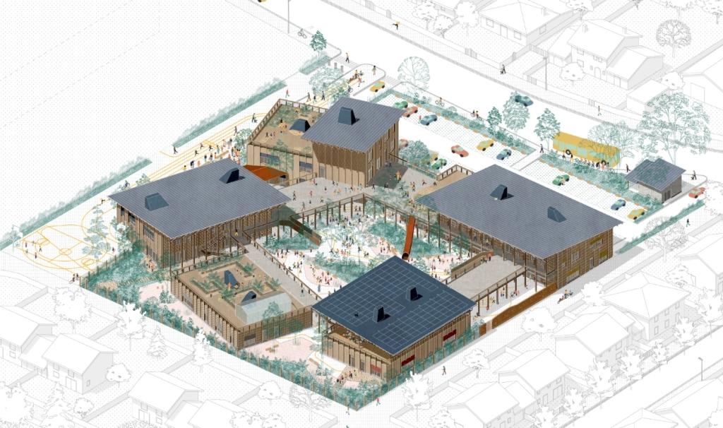 Acoba - Assistance à Maîtrise d'Ouvrage : Création du 5e groupe scolaire de Bruges (Gironde) - 2