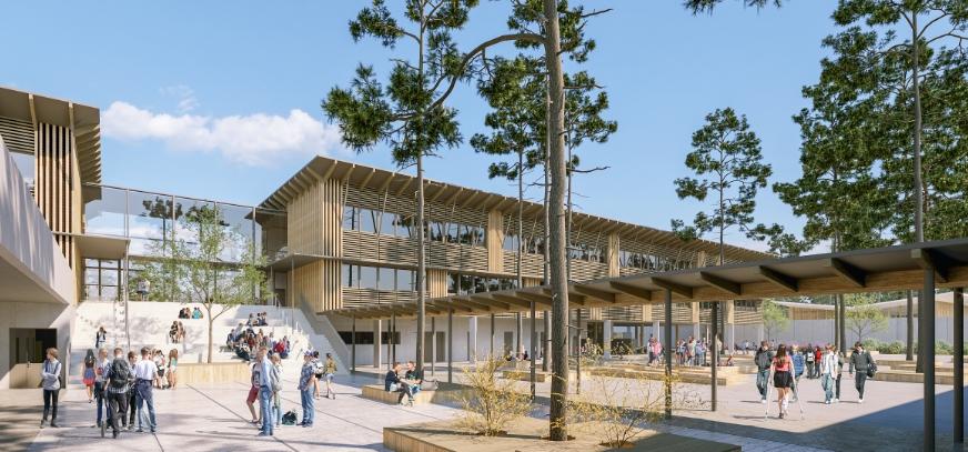 Acoba - Assistance à Maîtrise d'Ouvrage : Construction du nouveau collège du Pian Médoc - Perspective 2